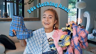 90s inspired clothing haul