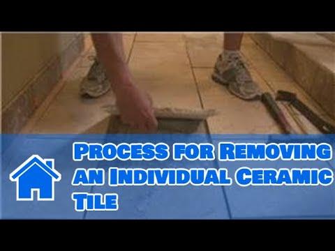 Repair loose ceramic tile