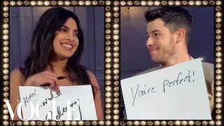 Priyanka Chopra & Nick Jonas Play the Newlywed Game | Vogue