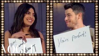 Priyanka Chopra & Nick Jonas Play the Newlywed Game | Vogue
