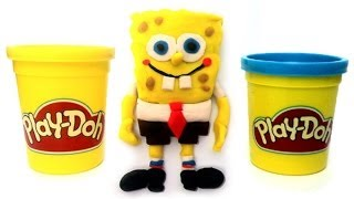 Play Doh How to make Spongebob Squarepants Bob Esponja