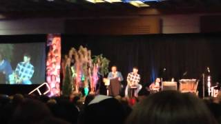 Torcon 2015 - Jared and Jensen making fun of Richard's directing quirk