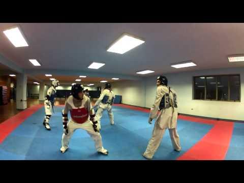 Combates Taekwondo Cer Iquique  (taekwondo Fight Sparring) Gopro Hero 2 video