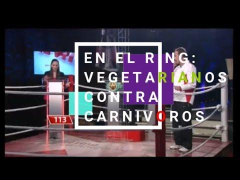 En el ring. Vegetarianos contra carnívoros!.