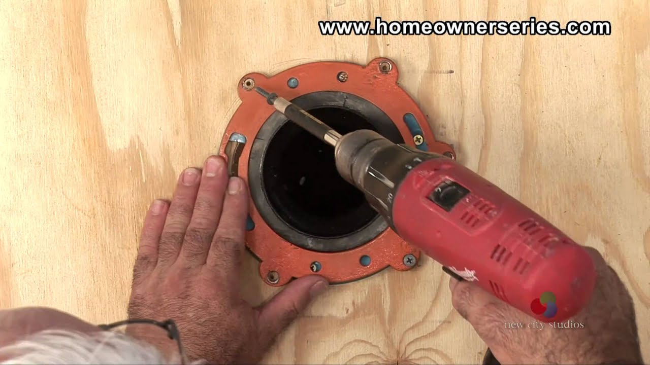 Toilet Flange Installation New Construction : How to fix a toilet wooden sub flooring flange repair