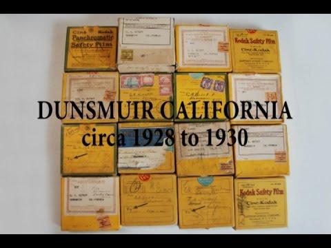 HISTORICAL DUNSMUIR CALIFORNIA circa 1928 to 1930