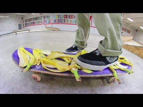BANANA PEEL GRIP TAPE!? Can You Skate It? / Warehouse Wednesday