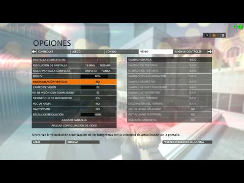 Configuración Battlefield Hardline - Maximizar rendimiento,Sensibilidad,Gráficos,Campo de Visión...