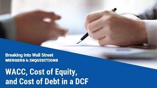 WACC, Cost of Equity, and Cost of Debt in a DCF