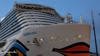 AIDAnova | historic big ship launch of worlds 1st LNG powered cruise ship | 4K-Quality-Video