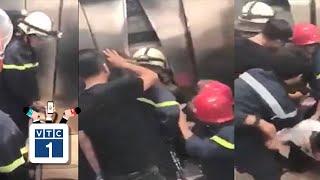 21 người bị kẹt trong thang máy cao ốc