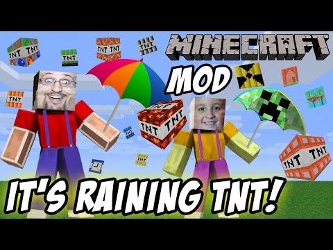 "It's Raining TNT! Mike & Dad play Minecraft ""Too Much TNT"" Mod"
