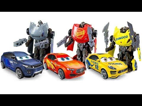 Тачки 3 Трансформеры Мультики про Машинки Игрушки Роботы Молния Маккуин Джексон Шторм