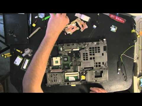 LENOVO T400 laptop take apart video, how to open, dissasemble, video disassembly
