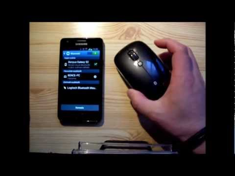 Samsung Galaxy S2 & Logitech m555b Bluetooth mouse review