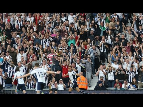 FAN CAM: West Bromwich Albion fans 'boing-boing' and sing 'The Lord's My Shepherd'