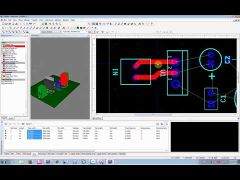 Transfer from multisim to ultiboard and view 3D circuit