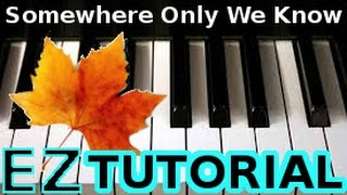 KEANE - Somewhere Only We Know - PIANO TUTORIAL VIDEO (Learn Online Piano Lessons)
