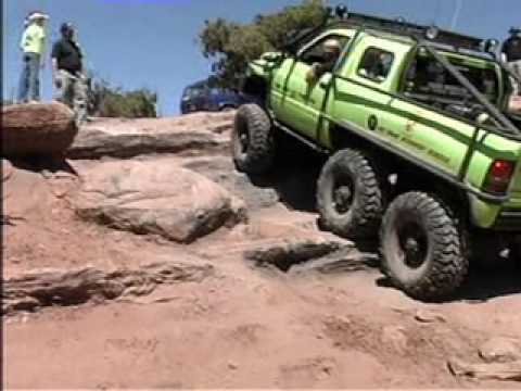 Dodge T-Rex 6x6 Truck in Moab 2009 - YouTube