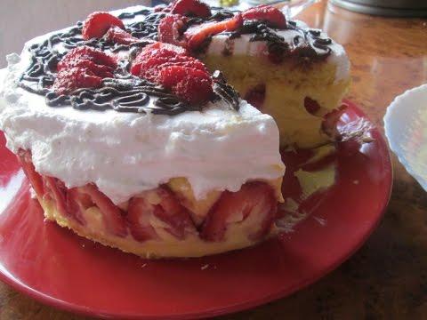 Клубничный торт (Fraisier Cake).