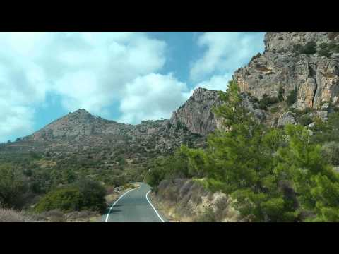 GREECE CRETE (KRETA) the southwest of Lasithi province (hd-video)