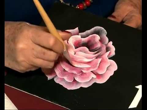 Como pintar una rosa - Hojas - Pinceladas - PIntura ...