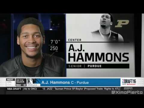 2016 NBA Draft #46 Pick A J Hammons Dallas Mavericks