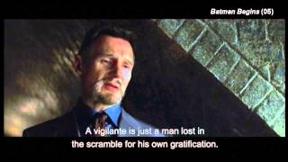 """Batman Begins - The Opening (part 2) """"If you devote yourself in an ideal"""""""