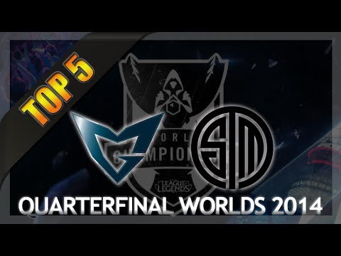 SSW vs TSM Top 5 Plays - Worlds Quarterfinals Day 1 (Samsung White vs Team Solomid)