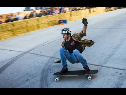 High Speed Downhill Skateboarding - Red Bull Steep Crest 2014