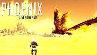 TRYING TO TAME A PHOENIX and Solo Raid - Official 6 Man Tribes - ARK Survival