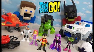 Imaginext Teen Titans & Batman Go to the Movies Action Figure Toys Unboxing!