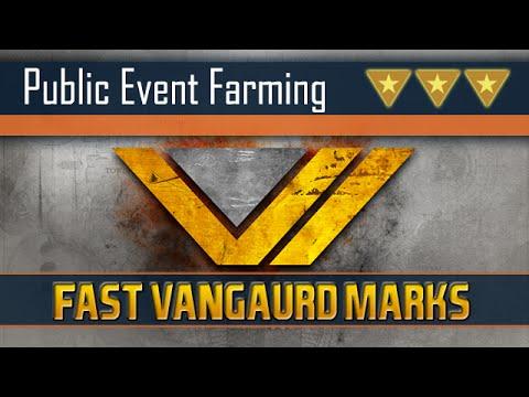 Destiny   How to farm Public Events - Public Event Schedule   Fastest Vangaurd Marks