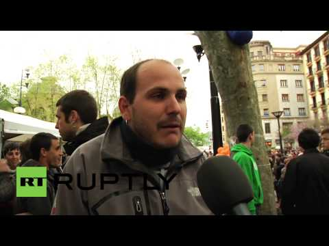 Spain: Activists camp out to protect wanted youths, 'The Basque 8'