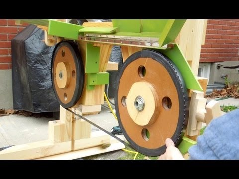 Bandsaw sawmill misadventures part 1