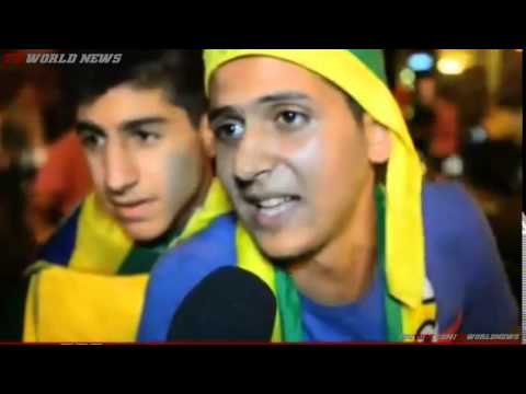 Football fans take over Beirut streets for World Cup