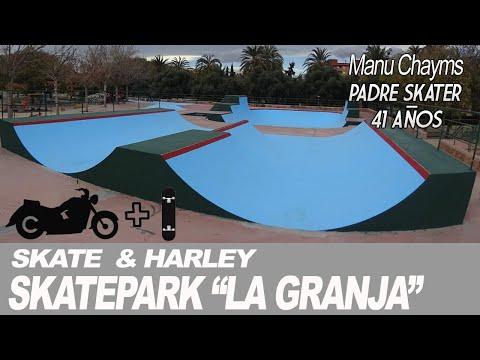 SKATE Y HARLEY: SKATEPARK de la GRANJA en Burjasot Valencia