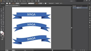 MertAga | Adobe Illustrator - Basit Kurdeleler Yapmak (Creating Simple Ribbons)