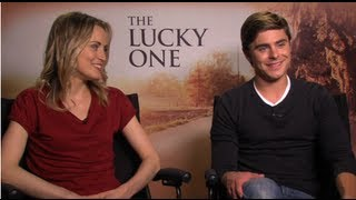 The Lucky One's Zac Efron and Taylor Schilling Talk Having a