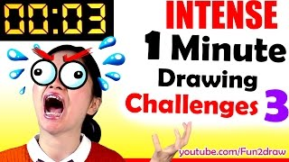 1 MINUTE to Draw Famous Character - REAL TIME ART VIDEO 3