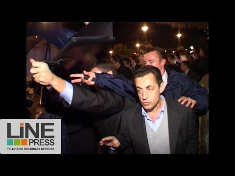 Archives LP. Nicolas Sarkozy sur la dalle d'Argenteuil / Argenteuil (95) - France 25 octobre 2005