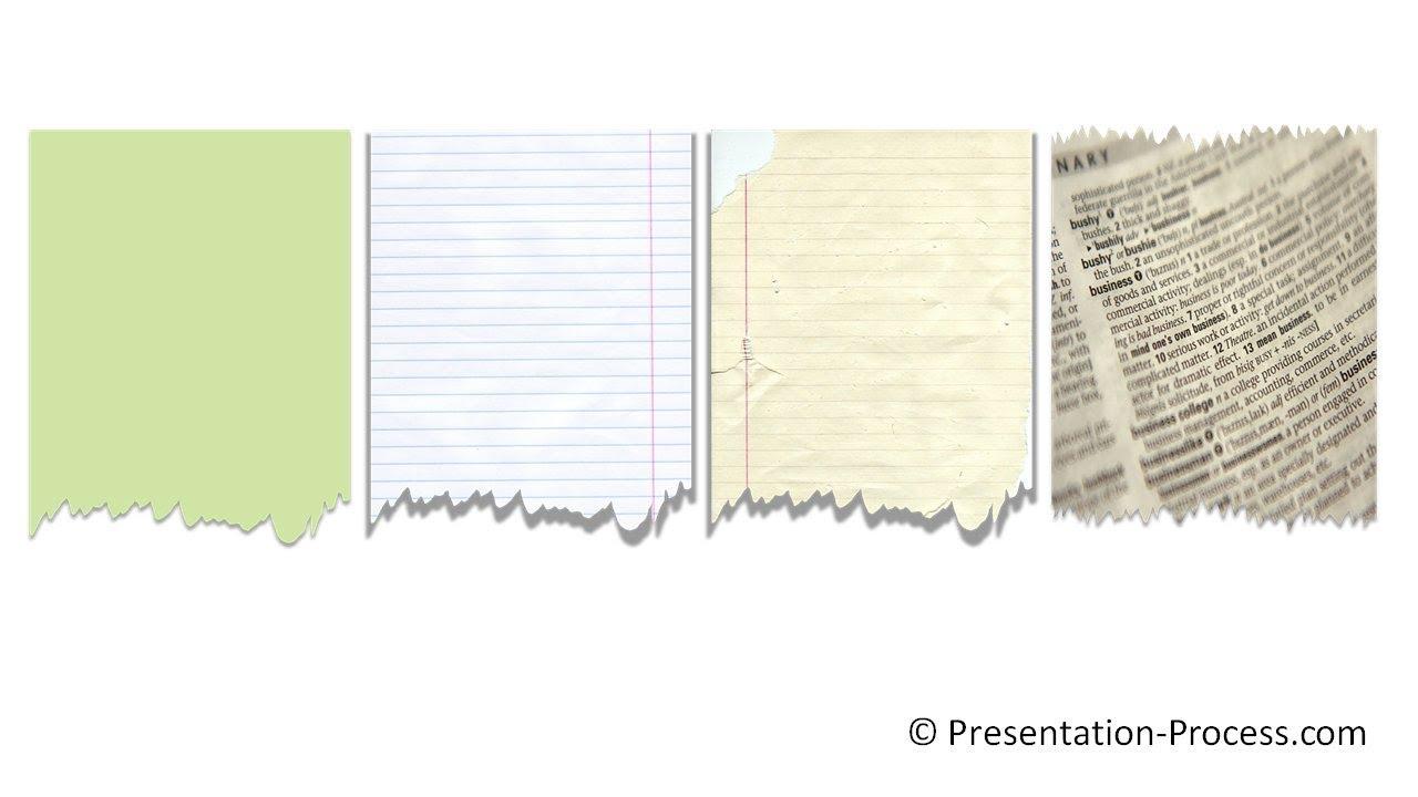 powerpoint torn paper effect   powerpoint effect tutorial