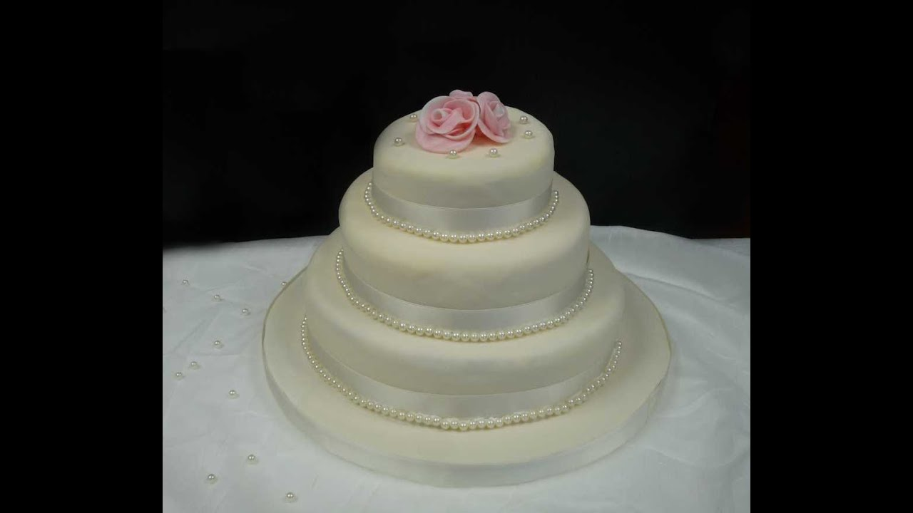 stöckige Hochzeitstorte backen/ How to make a 3-Tier Wedding Cake ...