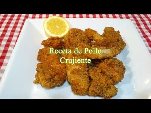 Receta fácil de pollo frito crujiente