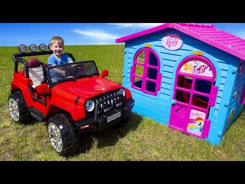 Arthur pretend play and ride on the new Car toys