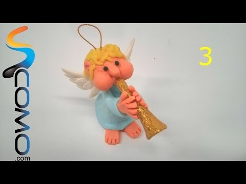 Cómo hacer las alas de un ángel con plastilina (3/3)