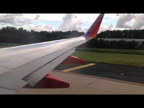 Southwest Airlines 737-700 takeoff from Tampa