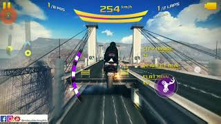 Asphalt 8 bike vs car insane stunts 60FPS