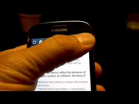 Samsung Galaxy S3 Incognito Mode in and out