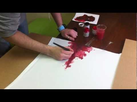 Как сделать краску цвета крови 893